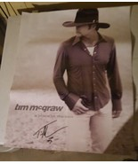 Tim Mcgraw A Place In The Sun Poster Autographed 28x23 - $10.00