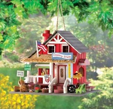 BIRDHOUSES: Old-Time Country Store Wood Bird House - $21.38