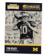 2016 Panini Contenders Draft Picks Tom Brady Old School Colors Insert Card - $3.95