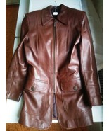Women Real Leather Jacket Genuine Brown Woman - $35.00