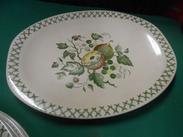 "Beautiful Staffordshire China Johnson Bros. OLD GRANITE ""Arbor""  PLATTER - $8.72"