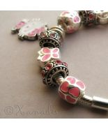 Pink Hello Kitty Princess European Charm Bracelet With Pink Rhinestone B... - $46.00