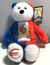 Limited Treasures France Euro Coin Retired Stuffed Plush Bear New - $9.99