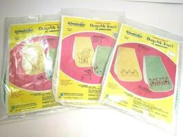 Vintage Wonderart Baby Bib & Burp Towel Embroidery Kit Perma Press Seale... - $28.65