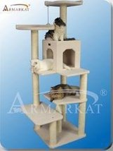 Multiple Level Armarkat Classical Ivory Faux Fleece Wooden Cat Tree Gym ... - $159.59