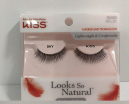 2 PACK KISS Looks So Natural Lashes 60483 KFL01 Shy - $9.49