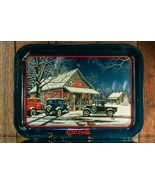 "Coca Cola ""The Gathering Place"" Classic Cars Tin Tray Vintage 1992 - $20.00"