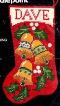 Vintage Bucilla Jingle Bells Chunky Christmas Needlepoint Stocking Kit 6... - $78.95