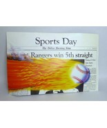 Texas Ranger front page Newspaper Rack Sign Football Dallas Morning News... - $64.34