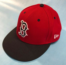 Men's Boston Red Sox New Era Red/Black 59FIFTY Fitted Hat 7 3/8 - $34.64