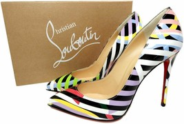 Christian Louboutin  Pigalle Follies  Leather Pointed Toe Pumps Shoes 39.5 - $479.99