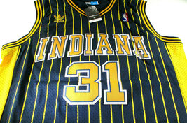 REGGIE MILLER / HALL OF FAME / AUTOGRAPHED INDIANA PACERS THROWBACK JERSEY / COA image 2