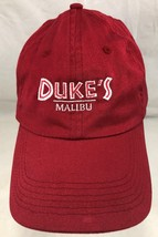 Baseball Cap/Hat Malibu California West Coast Restaurant Red Adjustable - $15.83