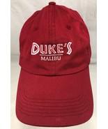 Baseball Cap/Hat Malibu California West Coast Restaurant Red Adjustable - $15.83