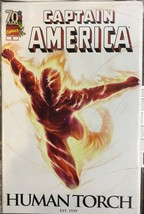 Captain America #46 Marvel 2009  Human Torch VARIANT Cover - $5.88