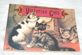 Victorian Cats Booklet Postcards Book Cat Postcards Vintage 1992 Running... - $24.70