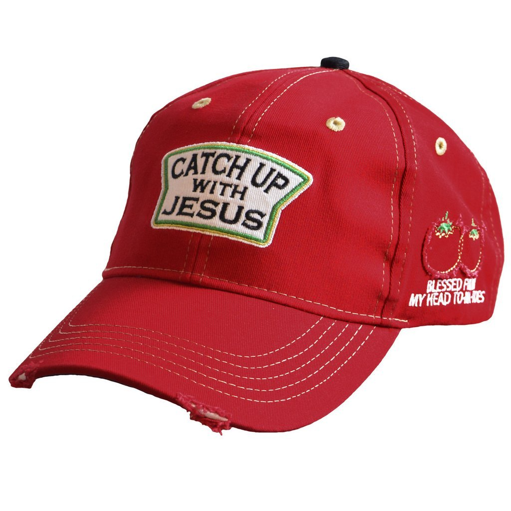 "MEN'S CHRISTIAN CAP ""CATCH UP WITH JESUS"""