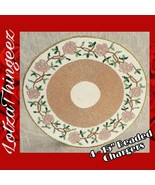 """Nicole Miller Home 15"""" Beaded Charger 4 Placemats Roses Pink White Lilac... - $100.67"""