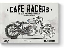 Motorcycles Coloring Book for men & boys - Cafe Racer book [Perfect Pape... - $10.96