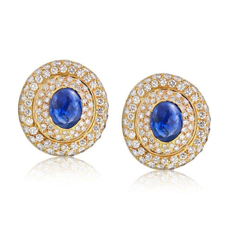 Primary image for David Webb Blue Sapphire and Diamond Pave Earrings