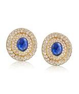 David Webb Blue Sapphire and Diamond Pave Earrings - $22,799.00