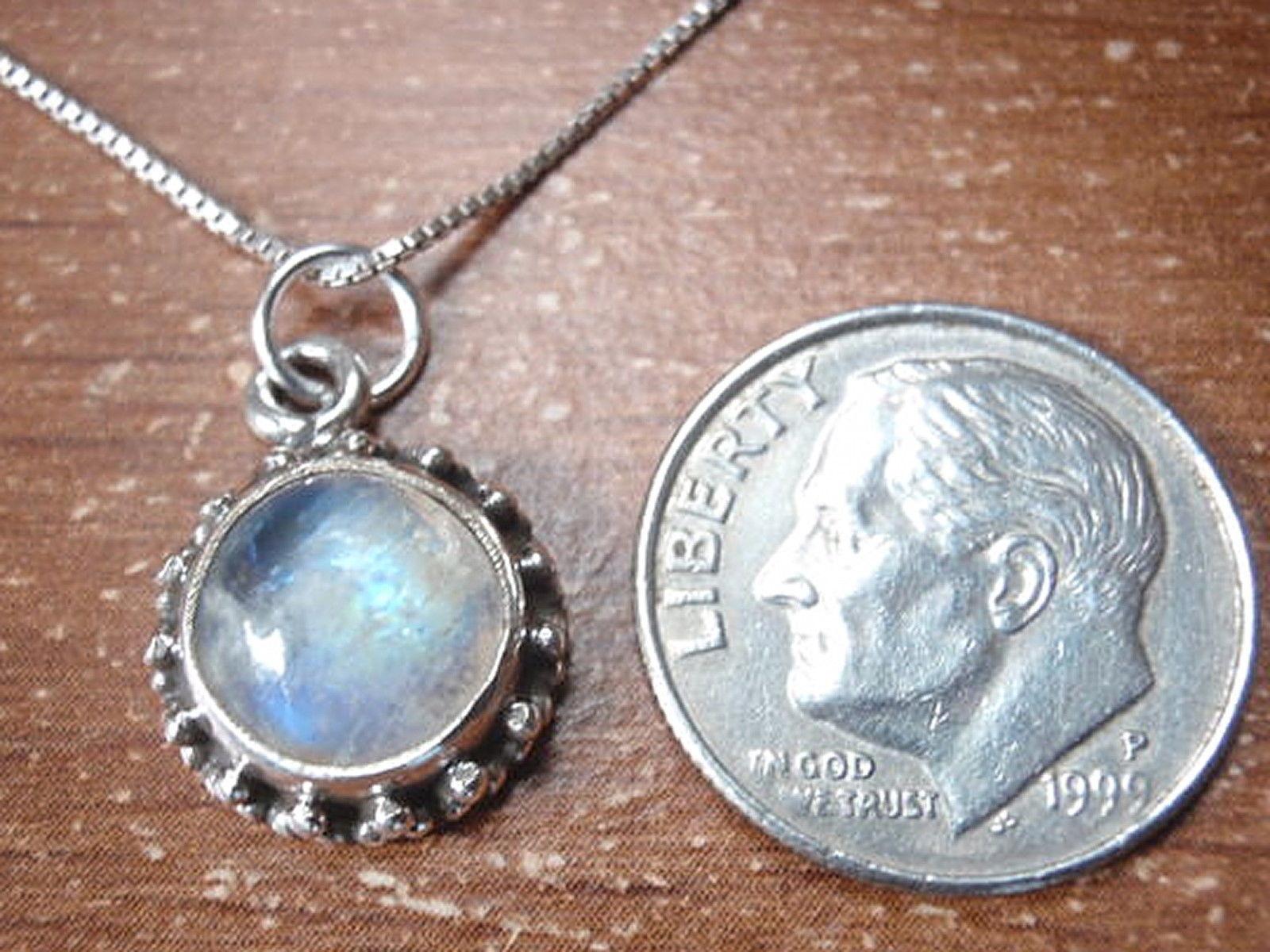 Small Labradorite Marquise 925 Sterling Silver Necklace Corona Sun Jewelry