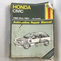 Honda Civic  Haynes Repair Manual, Service 1984-1991. Book, Guide. Rough! - $9.41