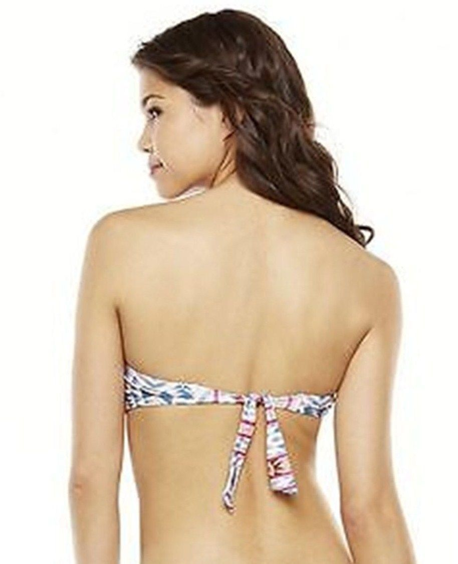 Candies Swim Bikini Padded Push-Up Twist Top Halter Blue Pink Junior Swimsuit