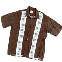 Men's XL Saddlebred Palm Tree Printed 100% Rayon Vacation Cruise Shirt B... - $24.34