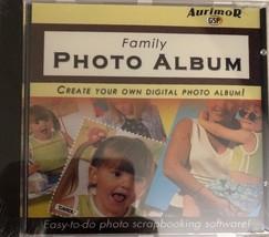 Family Photo Album Scrapbooking Software Cd-RARE Vintage COLLECTIBLE-SHIP N 24HR - $17.45