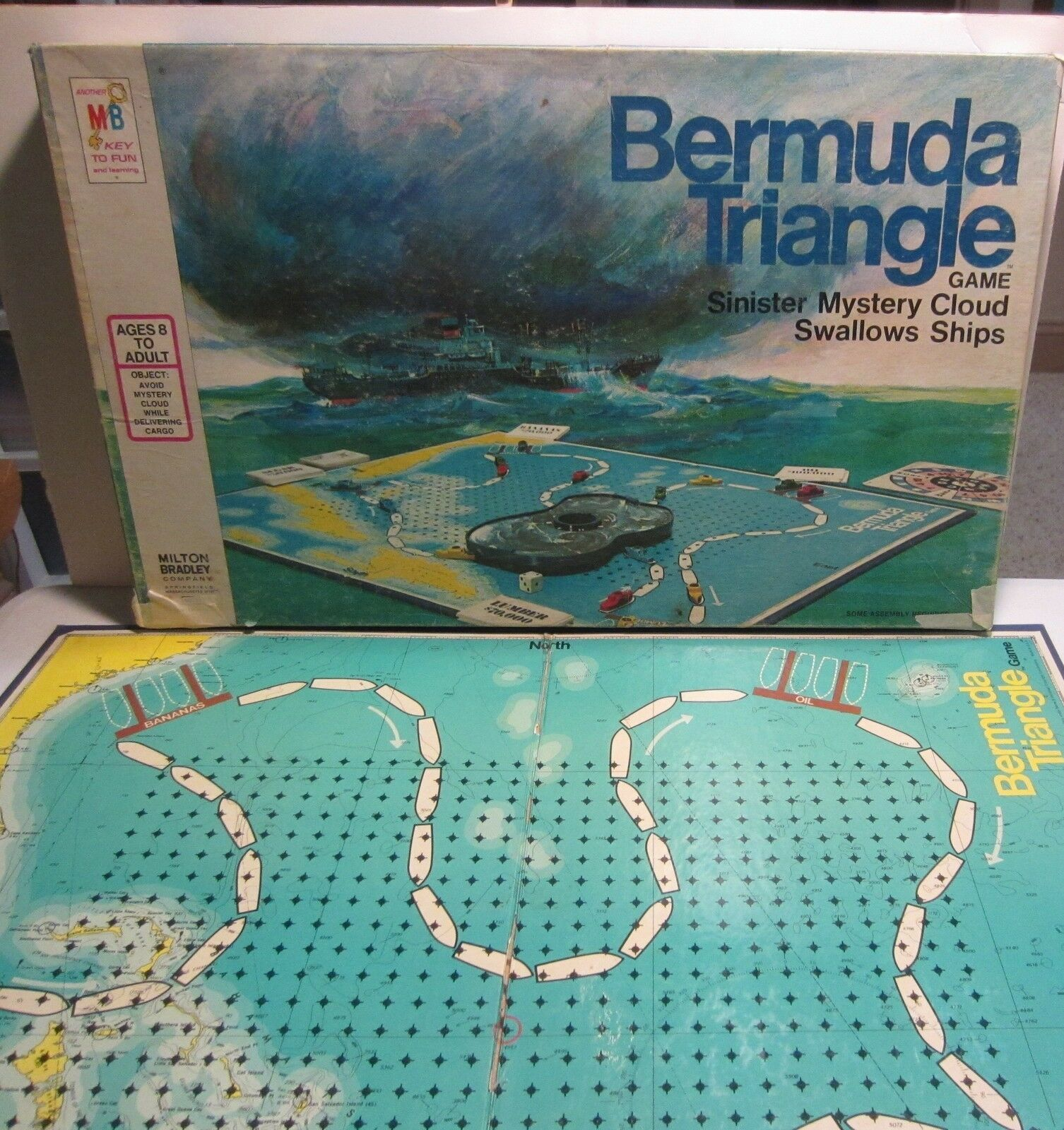 Vintage  Bermuda Triangle board game - complete