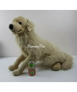 Large Golden Retriever Stuffed Animal Poseable Front Legs Light Cream Pu... - $76.52