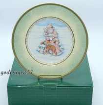 Fitz Floyd Santa's Portrait * 4 SALAD PLATES * Santa Winter Holiday Chri... - $84.99