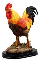"Ebros Proud Country Chicken Rooster Statue with Base 7.5"" Tall Resin Sculpture i - $24.95"