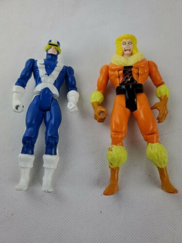 "Primary image for 1990s Xmen Toy Biz Marvel 5"" Cyclops Sabertooth Action Figure Lot"