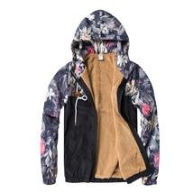 Bomber Jacket Men Hip Hop Slim Fit Flowers Pilot Bomber Jacket Coat Men's 1 - $50.12