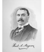 FRANK MAGOWAN New Jersey Rubber Cloth Watch Companies - 1895 Portrait Print - $9.44