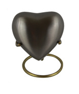 Heart Shaped Cremation Urns For Ashes - Heart Plain Keepsake Urn With Stand - $55.30