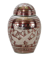 Small Funeral Urns For Ashes - Dome Top Going Home Keepsake Urn With Vel... - $39.55