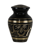 Small Memorial Urns For Ashes - Radiance Keepsake Cremation Urn With Vel... - $39.55