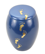 Baby Paw Prints Memorial Urns For Ashes - Sutton Blue Child Urn for Ashes - $131.20