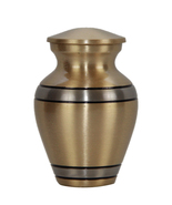 Small Cremation Urn - Grecian Pewter Brass Keepsake Memorial Urn With Ve... - $45.00