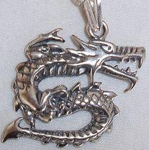 Dragon silver pendant thumb200
