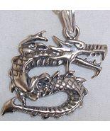 Dragon silver pendant - $32.00