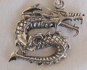 Dragon silver pendant