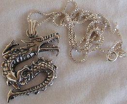 Dragon silver pendant 3 thumb200