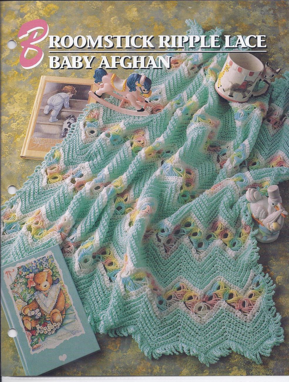 Annie\'s Attic Broomstick Ripple Lace Crochet Pattern (1990s): 1 ...