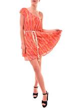 Free people Women's Heart Shaped Face Mini Dress Orange Combo RRP £98 BCF77 - $91.25