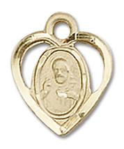 14K Gold Scapular Medal 3/8 x 3/8 inch - $172.60
