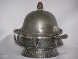 Antique Unplated 1880 Butter Dish with Ice Rese... - $48.00